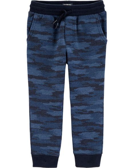 Pantalon de jogging molletonné à motif camouflage