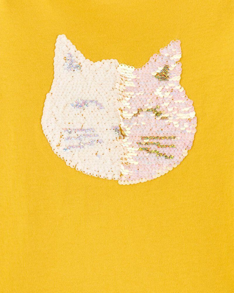 Flip Sequin Cat Jersey Tee, , hi-res