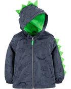 Midweight Dino Print Fleece-Lined Jacket, , hi-res