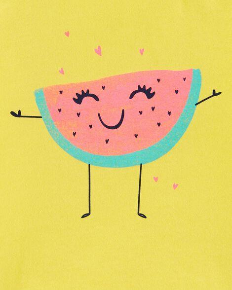 Glitter Watermelon Jersey Tee