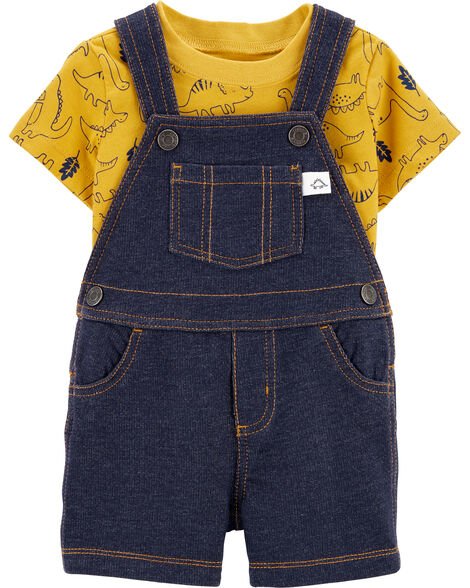 2-Piece Dinosaur Tee & Shortall Set