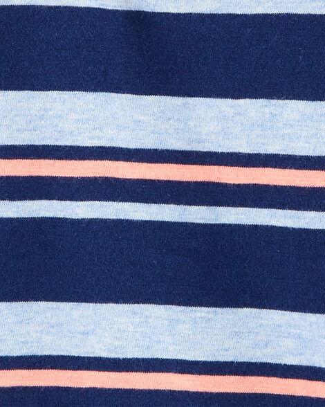 Striped Henley Jersey Romper