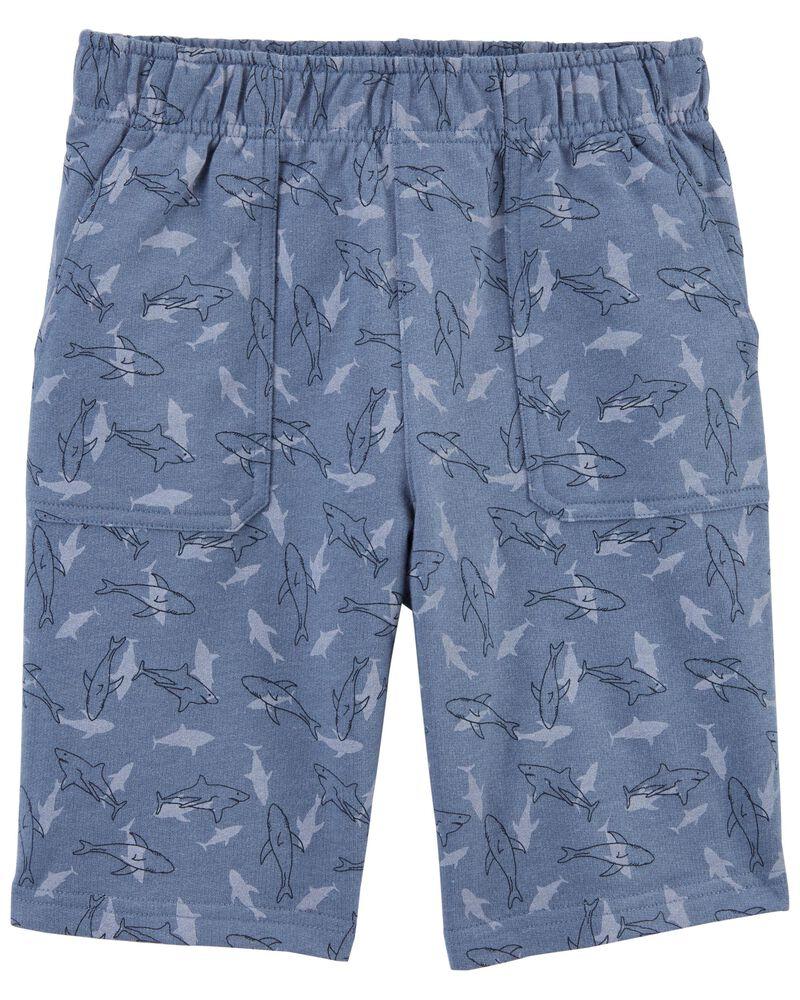 Short en jersey bouclette à requin, , hi-res