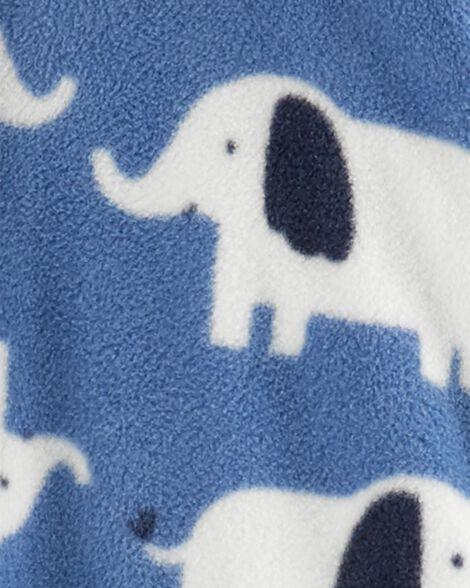 Combinaison à capuchon en molleton avec éléphant