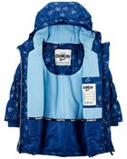 Hooded Butterfly Print Parka, , hi-res