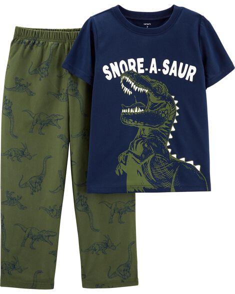 Pyjama 2 pièces en polyester à dinosaure