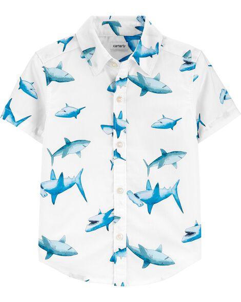 Shark Button-Front Shirt