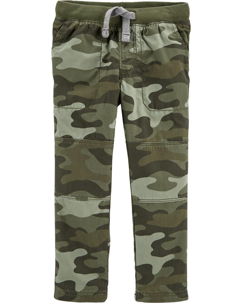 Camo Pull-On Reinforced Knee Pants, , hi-res