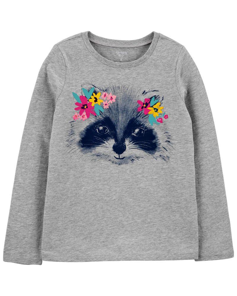 T-shirt en jersey à raton laveur, , hi-res