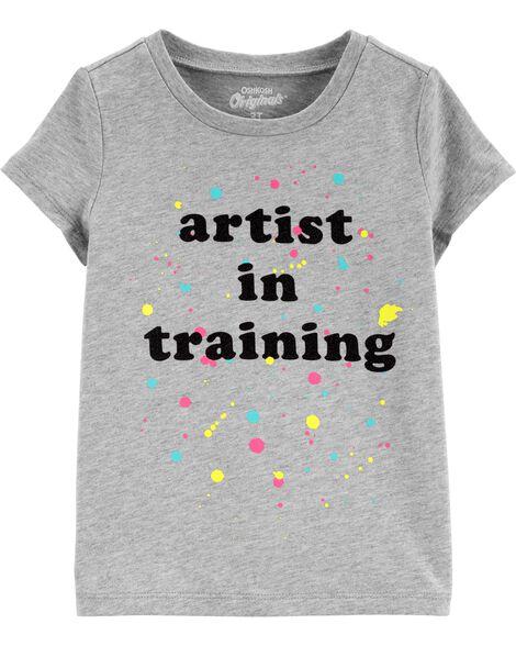 T-shirt à imprimé original artiste