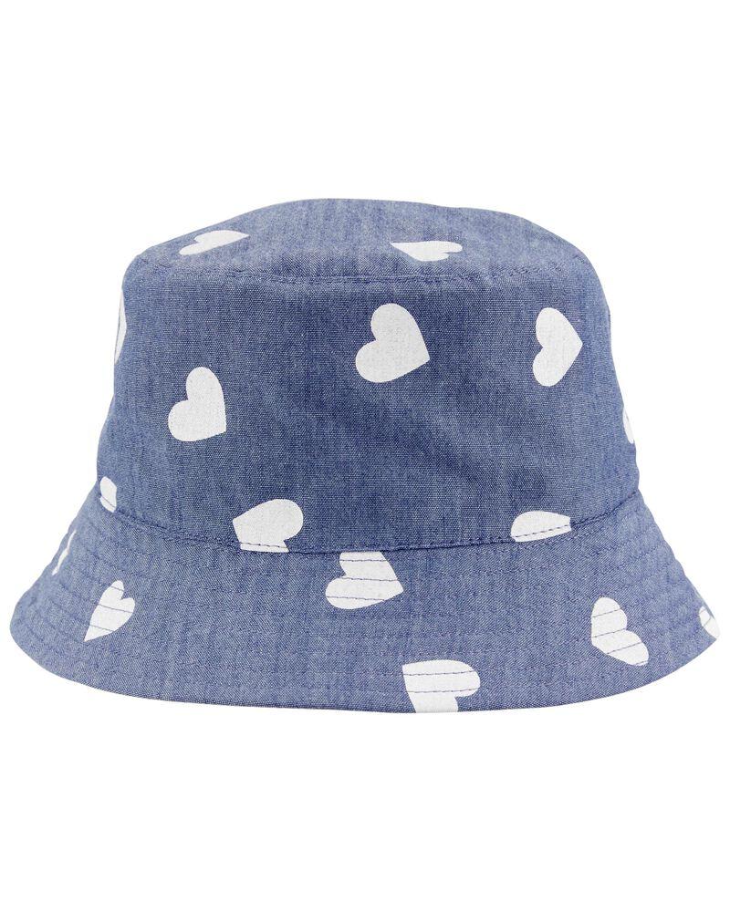 Chambray Bucket Hat, , hi-res