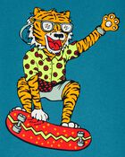 T-shirt en jersey à motif de tigre, , hi-res