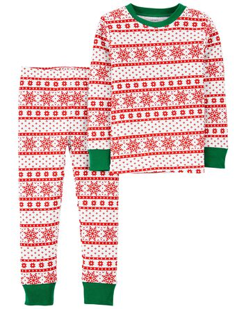 2-Piece Holiday 100% Snug Fit Cotto...