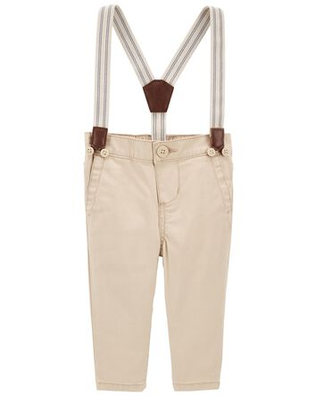 Stretch Suspender Pants