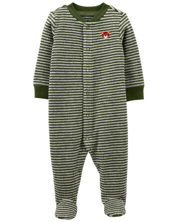 Striped Terry Snap-Up Sleep & Play