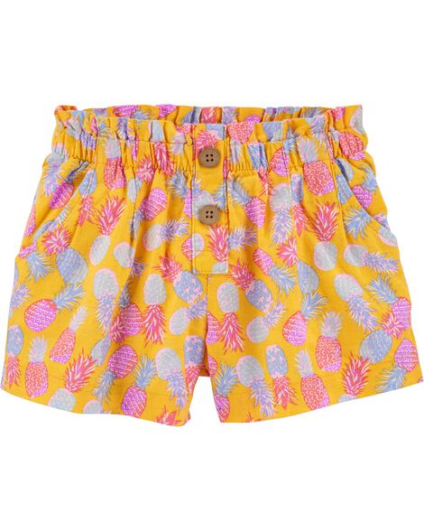 Pineapple Linen Shorts