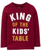 King Of The Kid's Table Jersey Tee, , hi-res