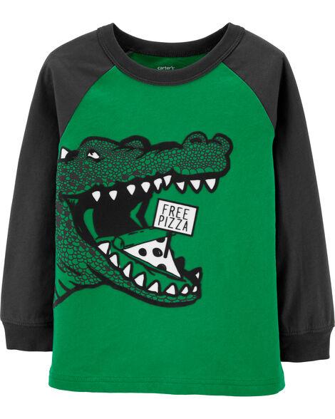 Dino Free Pizza Jersey Tee