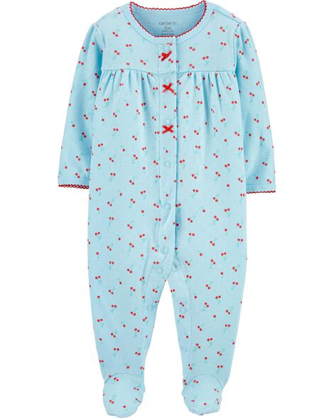 Cherry Snap-Up Pointelle Sleep & Play