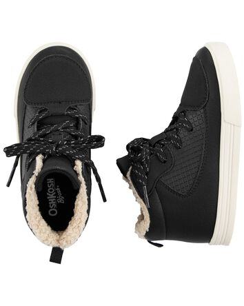 Faux Fur-Lined High Tops