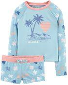 Aloha Palms Rashguard Set, , hi-res