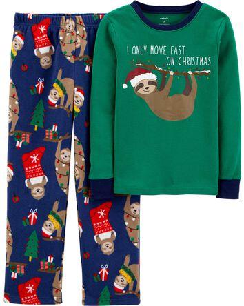 Pyjama 2 pièces en molleton avec pa...