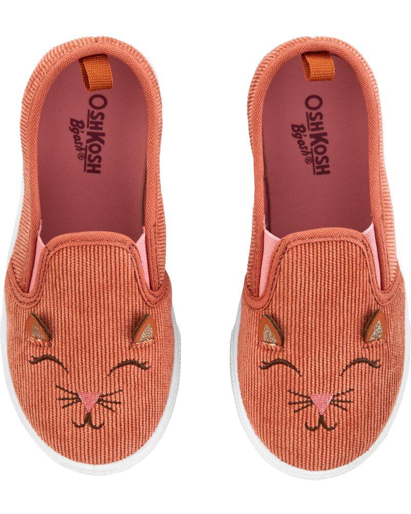 Corduroy Cat Slip-Ons, , hi-res