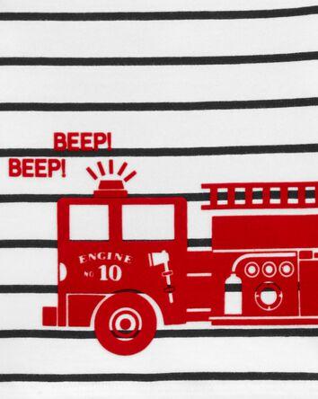 3-Piece Firetruck Little Short Set