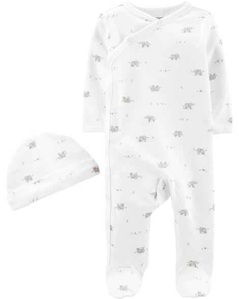 2-Piece Cap & Side-Snap Sleep & Play Set