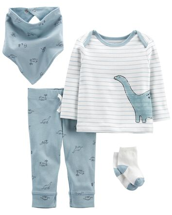 4-Piece Dinosaur Outfit Set