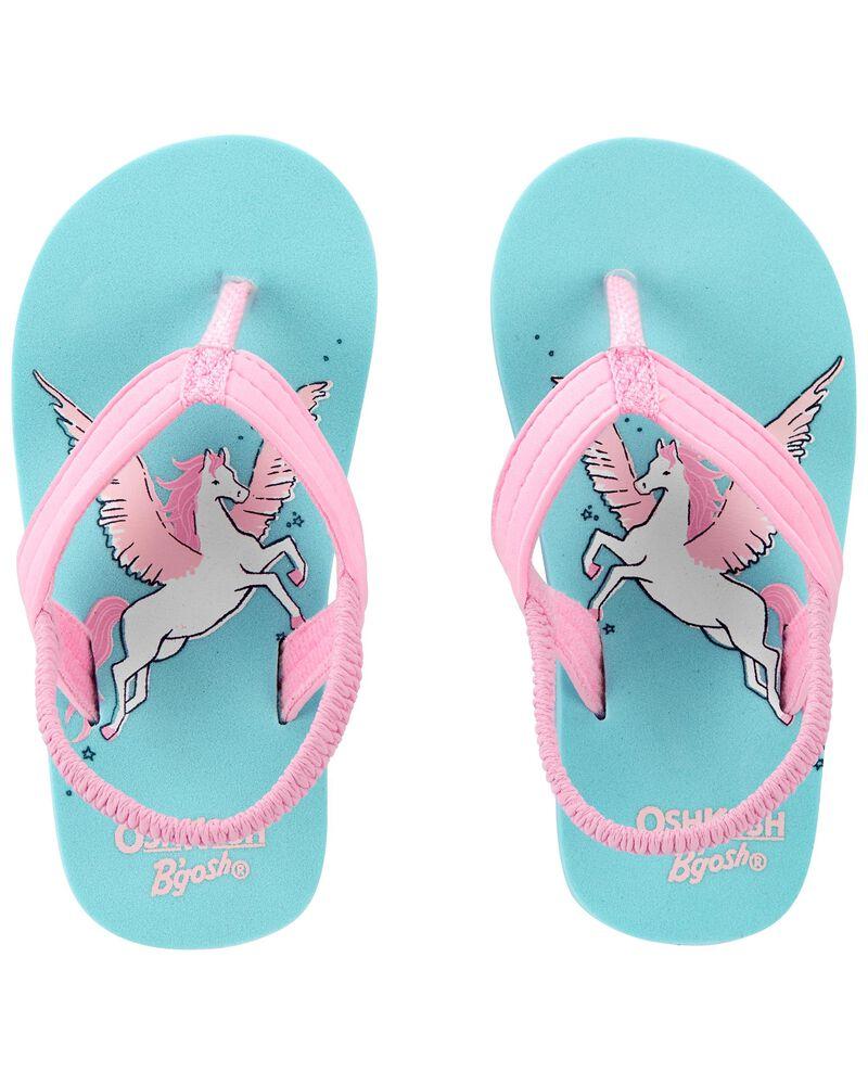 Sandales de plage à motif de licornes, , hi-res