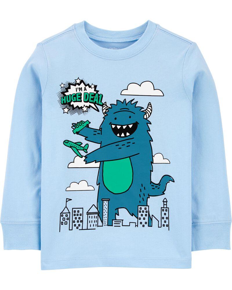 T-shirt en jersey à monstre, , hi-res