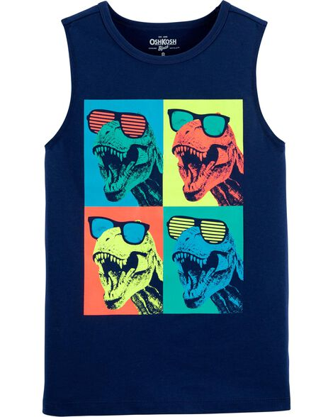 Dinosaur Cut-Off Muscle Tee