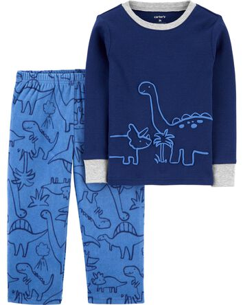 2-Piece Dinosaur 100% Snug Fit Cott...