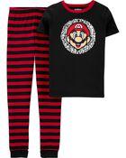 Pyjama 2 pièces en coton ajusté Mario, , hi-res