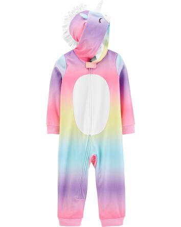 Pyjama 1 pièce à capuchon en mollet...