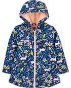 Tropical Unicorn Fleece-Lined Rain Jacket, , hi-res