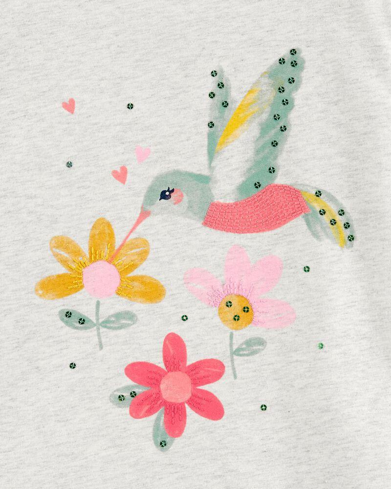 T-shirt en jersey à colibri, , hi-res