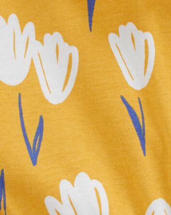 Barboteuse en jersey fleurie