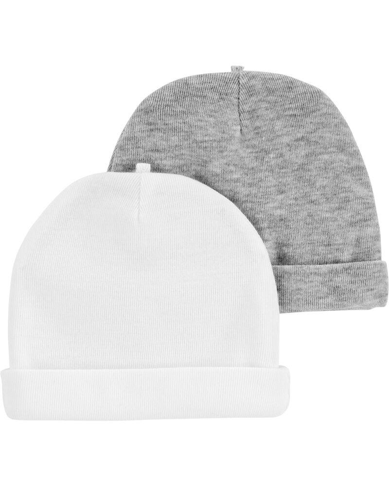 Emballage de 2 bonnets pour bébé, , hi-res
