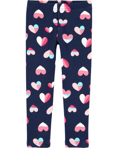 Heart Cozy Fleece Leggings