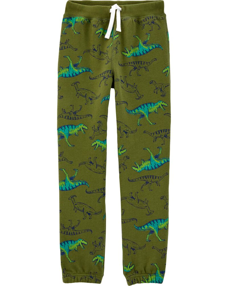 Dinosaur Pull-On Fleece Pants, , hi-res