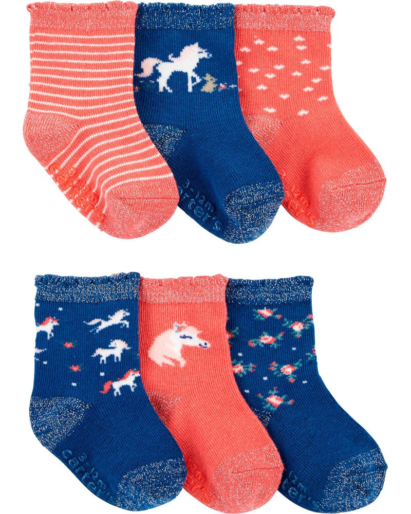 6-Pack Unicorn Socks, , hi-res