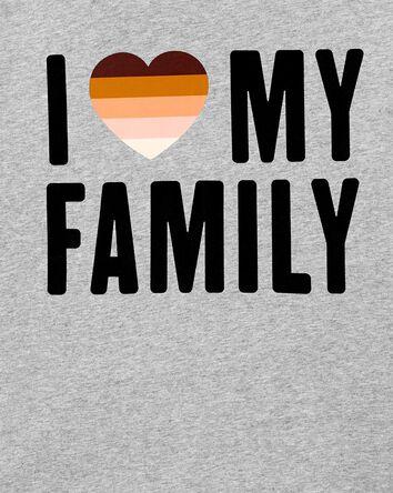 T-shirt pour femme I Love My Family...