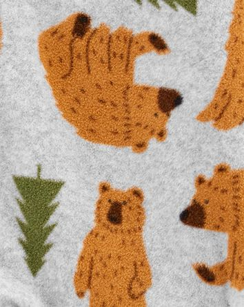 1-Piece Bear Fleece Footie PJs