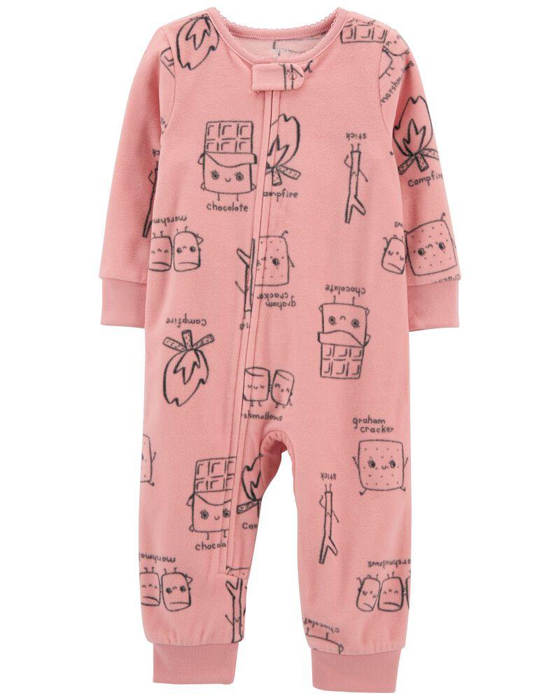 Pyjama 1 pièce sans pieds en molleton S'more, , hi-res
