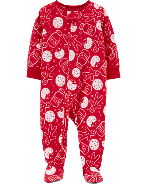1-Piece Cookies Fleece PJs