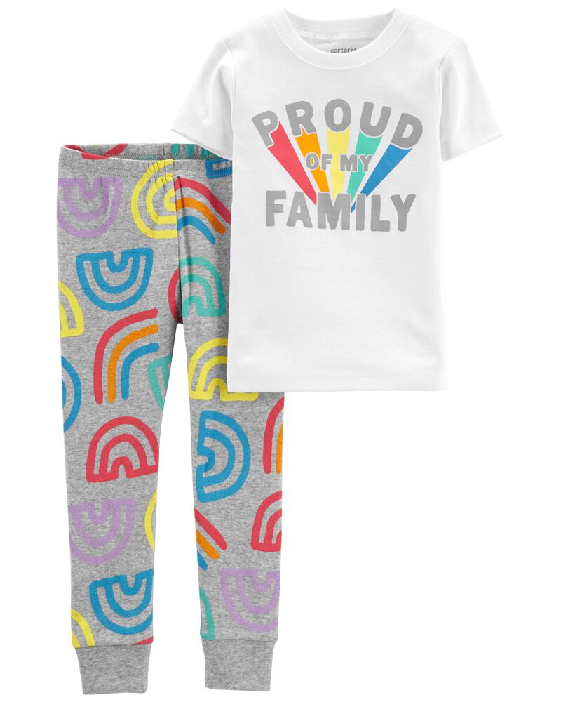 2-Piece Pride 100% Snug Fit Cotton PJs, , hi-res