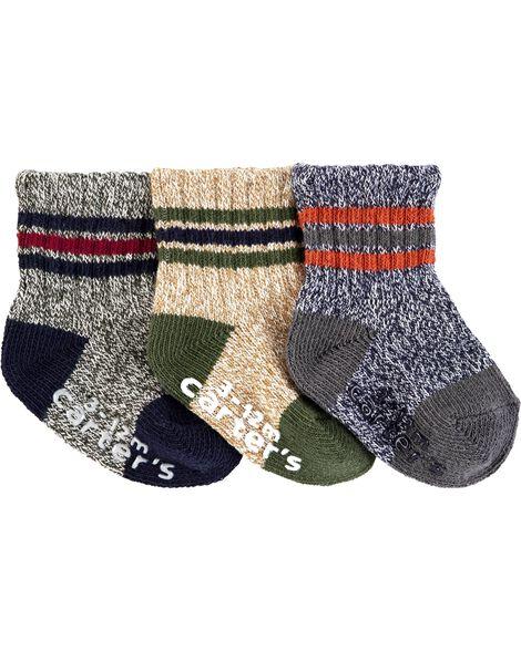 Emballage de 3 paires de chaussettes mi-mollet jaspées