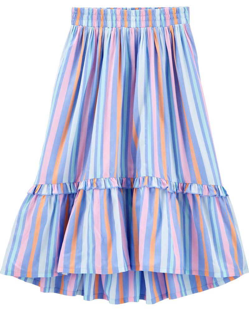 Striped Midi Skirt, , hi-res